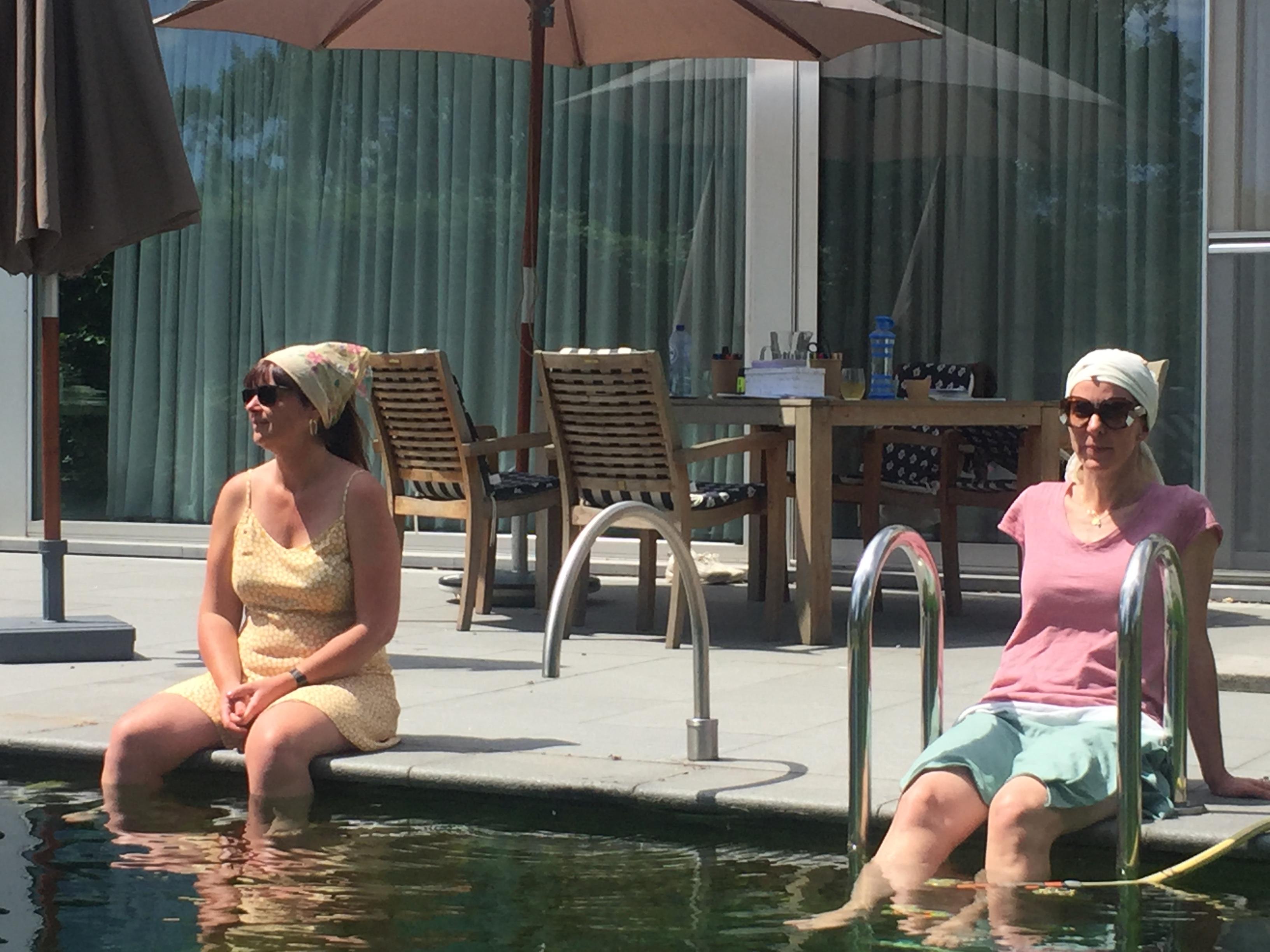 stress de baas zomers genieten pauze in de zon